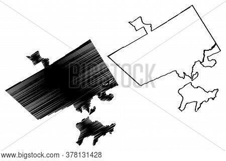 Rawalpindi City (islamic Republic Of Pakistan, Punjab Province) Map Vector Illustration, Scribble Sk