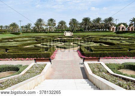Oman Travel. Muscat. Oman City Life Background. Traffic, Tourism, Buildings. Muscat, Oman : 26-07-20