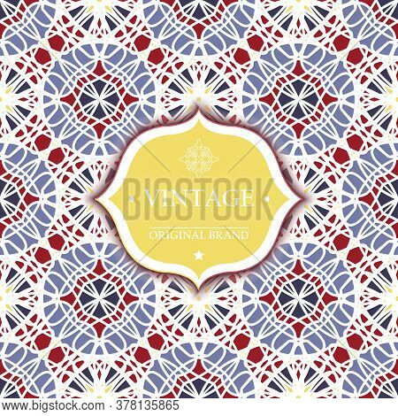 Card. Vintage Decorative Elements. Ornamental Floral Business Cards, Oriental Pattern, Vector Illust