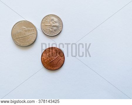 Bosnia And Herzegovina - April 6, 2020: Metal Money Or Coinage Isolated On White Background, Currenc