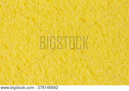Light Yellow Ethylene Vinyl, Acetate Foam Texture With Porosity.