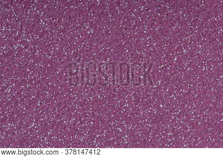 Purple Glitter For Texture Or Background. Low Contrast Photo.