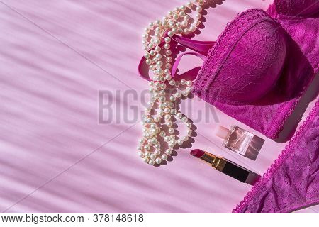 Lingerie And Perfume Bottle