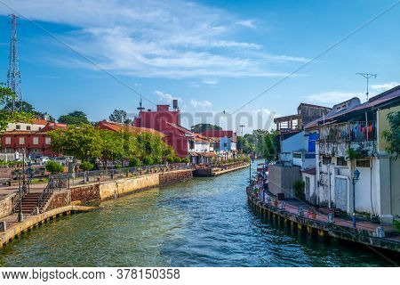 Landscape Of The Old Town In Melaka (malacca), Malaysia