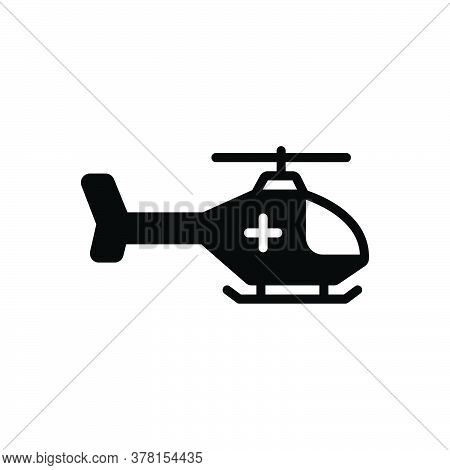 Black Solid Icon For Emergency-helicopter Air-medical-service Air-ambulance Helicopter Emergency Res