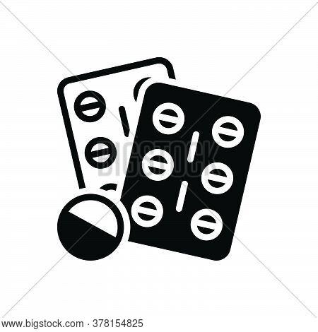 Black Solid Icon For Medicine Medication-pills Medication Medicines Pills Tablet Antibiotic Bottle C