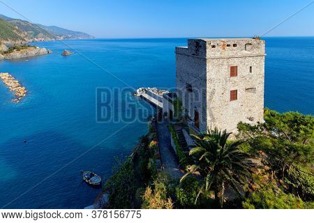 Torre Aurora in Monterosso al Mare is the westernmost of the Cinque Terre, a national park and an Unesco World Heritage Site.