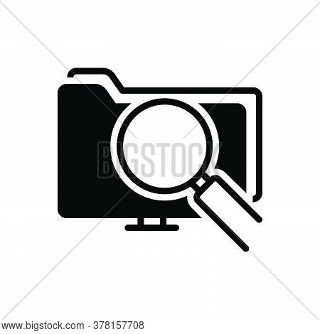 Black Solid Icon For Data-search-interface Search Information Magnifier Interface Magnifying-glass F
