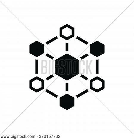 Black Solid Icon For Hexagonal-interconnections Interconnectivity Architecture Hexagonal Digital Con