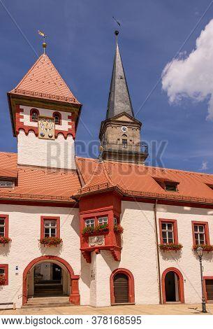 Townhall Of Marktredwitz In The Region Of Fichtel Mountains