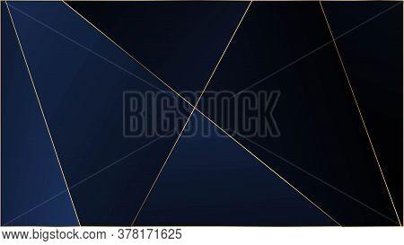Blue Luxury Polygon Texture. Elegant Dark Platinum Chic Shapes Banner Silver Rich Vip Geometric Cele
