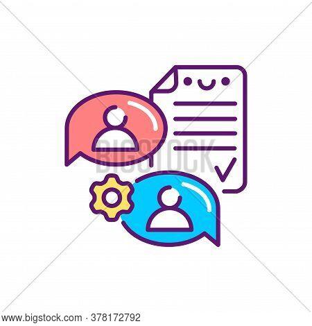 Supplier Agreement Line Color Icon. Event Management. Sign For Web Page, Mobile App, Button, Logo. V
