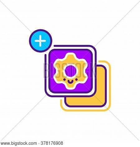 Widgets Line Color Icon. Smm Promotion. Sign For Web Page, Mobile App, Button, Logo. Vector Isolated