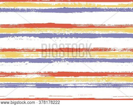 Casual Stripes Interior Wallpaper Seamless Pattern. Modern Sketch Graphics. Interior Tablecloth Or W