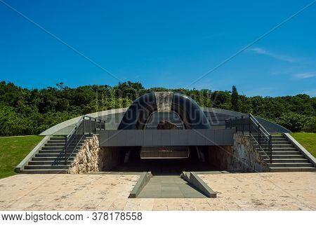 Peace Hill Of Peace Memorial Park Where Ceremony Is Held On The Blue Sky And Memorial Day Of Okinawa