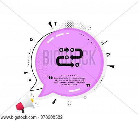 Methodology Icon. Quote Speech Bubble. Development Process Sign. Strategy Symbol. Quotation Marks. C