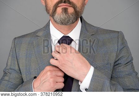 Hands Tying Tie Formal Suit Fashionable Blazer, Male Accessory Concept.
