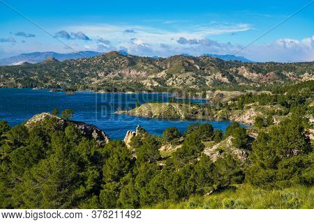 The Pantano Embalse De Alfonso Xiii Reservoir Near Calasparra, Region Of Murcia. Spain. River Segura