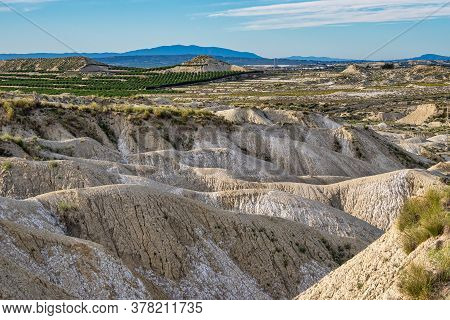 The Badlands Of Abanilla And Mahoya In The Murcia Region In Spain