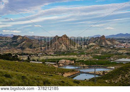Landscape View Near Villanueva Del Rio Segura In The Valley Of Ricote, Murcia Region In Spain