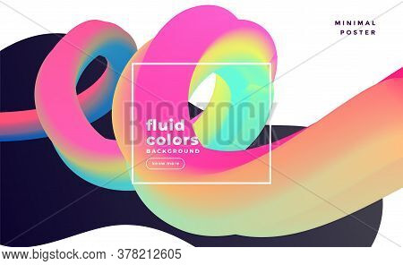 Colorful 3d Fluid Loop Abstract Background Vector Design Illustration