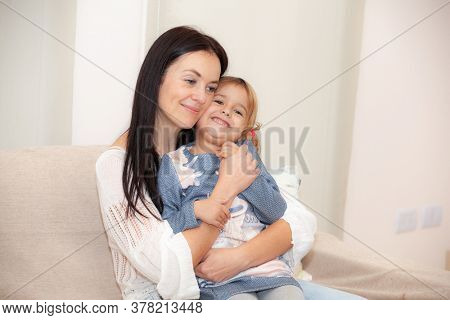 mother and daughter in an apartment during a pandemic isolated
