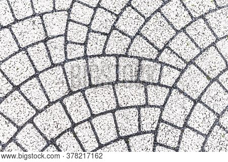 Vintage White Cobblestone Pavement Pattern And Background