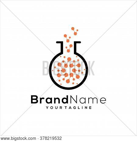 Tech Lab Logo Template Design Vector, Lab Icon, Lab Symbol