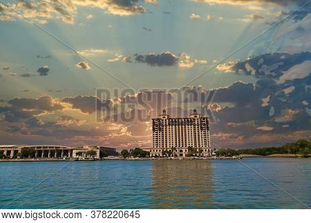 The Hotel Across The Savannah River From River Street Next To The Convention Center