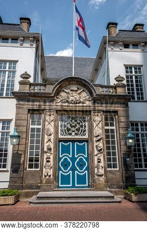 The Front And The Front Door Of The Old Town Hall In Zutphen A Hanze Town In The Netherlands Provinc