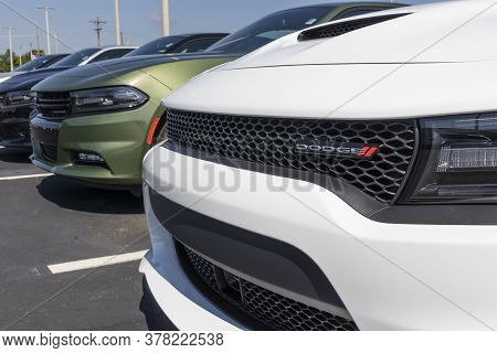 Noblesville - Circa July 2020: Dodge Charger Display At A Chrysler Dealership. The Subsidiaries Of F