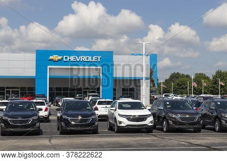 Noblesville - Circa July 2020: Chevrolet Automobile Dealership. Chevy Is A Division Of General Motor