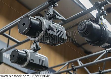 Krasnoyarsk, Russia, June 20, 2020: Godox Flash Is A Professional Light For Photographers And Video
