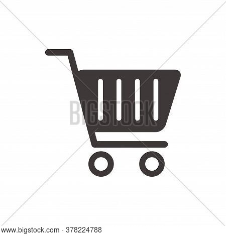 Cart Icon. Vector Cart Icon Isolated On White Background. Cart Icon Trendy And Modern Cart Symbol Fo