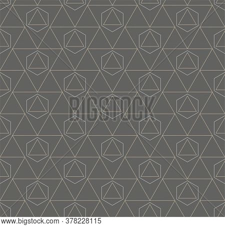 Repetitive Elegant Vector Hex, Repeat Pattern. Seamless Asian Graphic Continuous Array Texture. Repe
