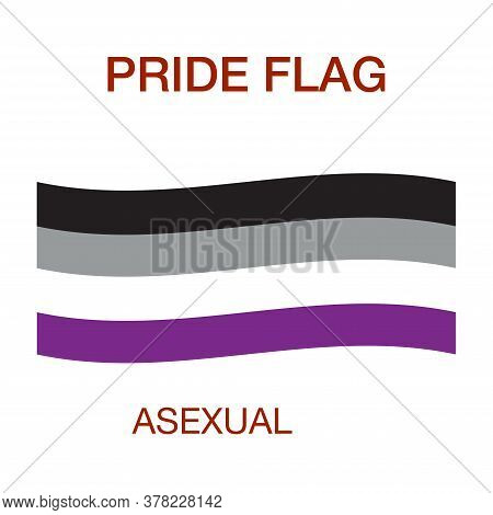 Asexual Pride Flag. Pride Symbol.the Official Symbol Of The Community