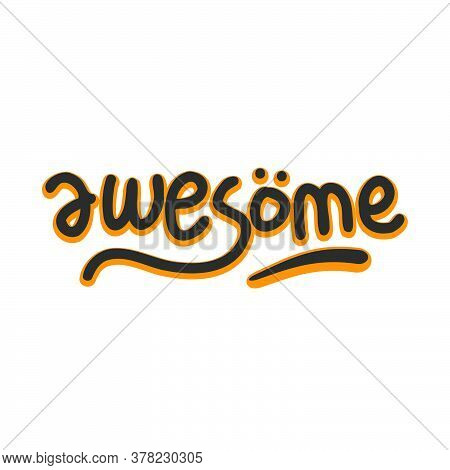 Doodle Text About Awesome