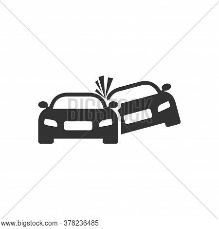 Car Crash Icon. Vector Car Crash Icon Isolated On White Background. Car Crash Icon Trendy And Modern