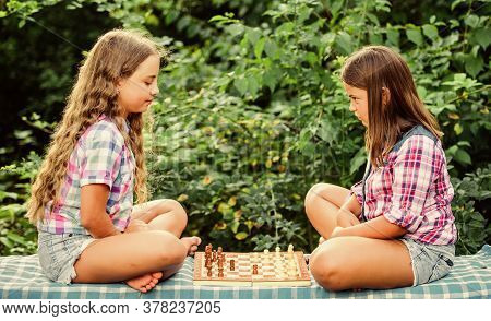 Try To Beat Me. Chess Playing Sisters. Skilled Children. Turn On Your Brain. Make Brain Work. Early