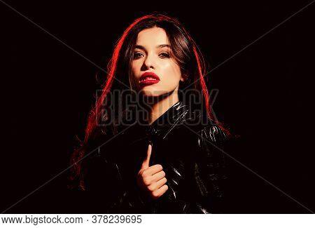 Vampire Aesthetics. Red Lips Smoky Eyes. Passionate Lady. Desire Concept. Wild Energy Inside. Impecc