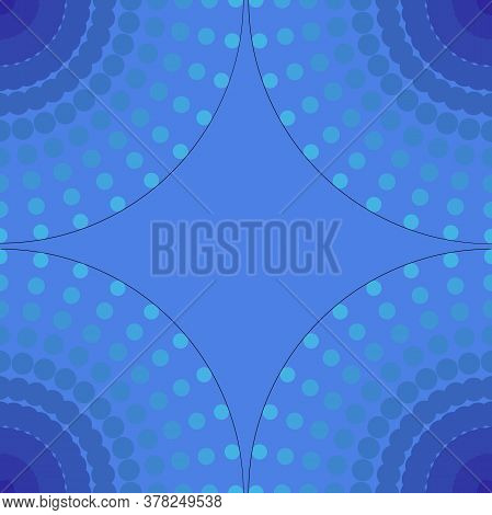 Halftone Colorful Sphere Of Points. Gradation Blue Gradient On Blue Backgrounds. Vector Illustration