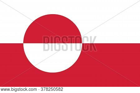 Greenland Flag Vector Graphic. Rectangle Greenlander Flag Illustration. Greenland Country Flag Is A