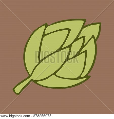 Vector Doodle Illustration Of Artichoke. Hand Drawn Healthy Farm Vegetable Isolated On White Backgro