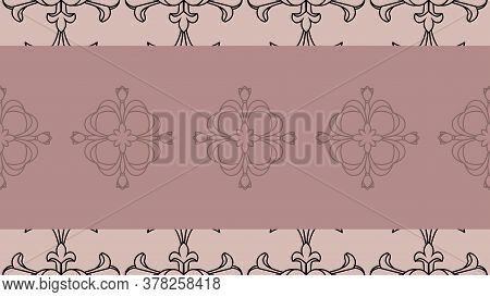 Seamless Damask Pattern Wallpaper. Vintage Decor In Victorian Style.