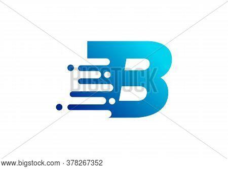 B Letter Speed Logo Design. Creative Unique Elegant Geometric, Minimal Fashion Brand B Letter Logo.