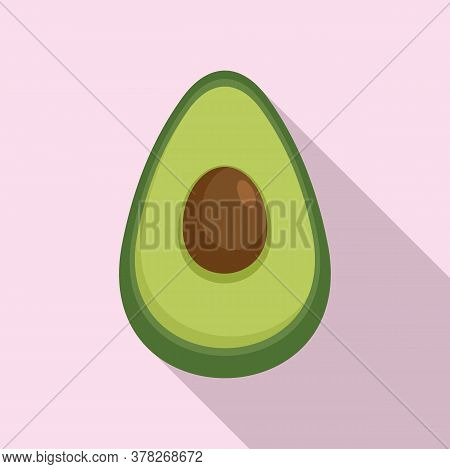 Superfood Avocado Icon. Flat Illustration Of Superfood Avocado Vector Icon For Web Design