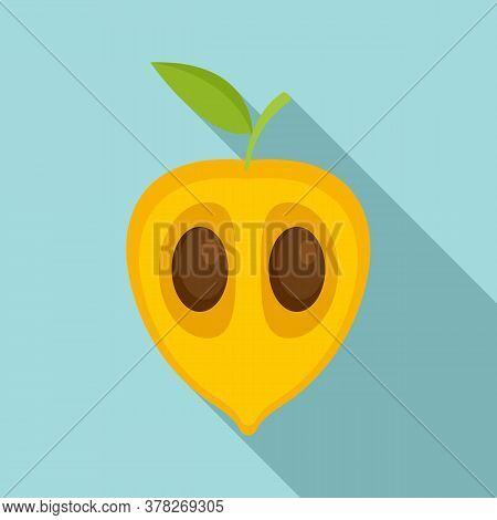 Exotic Guava Icon. Flat Illustration Of Exotic Guava Vector Icon For Web Design