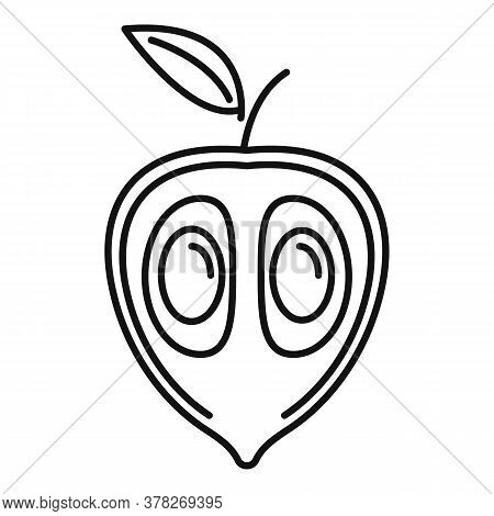 Exotic Guava Icon. Outline Exotic Guava Vector Icon For Web Design Isolated On White Background