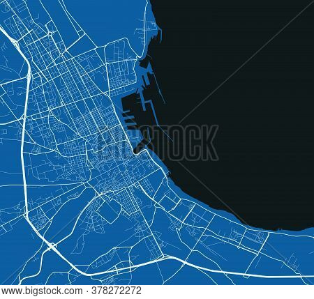 Palermo City Map Poster. Map Of Palermo Street Map Poster. Palermo Map Vector Illustration.