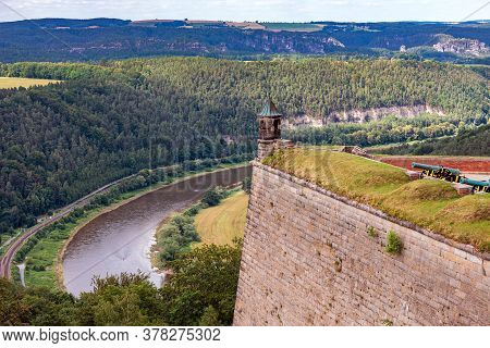 Elbe Sandstone Mountains - Koenigstein Fortress, One Of The Largest Mountain Fortresses In Europe, D